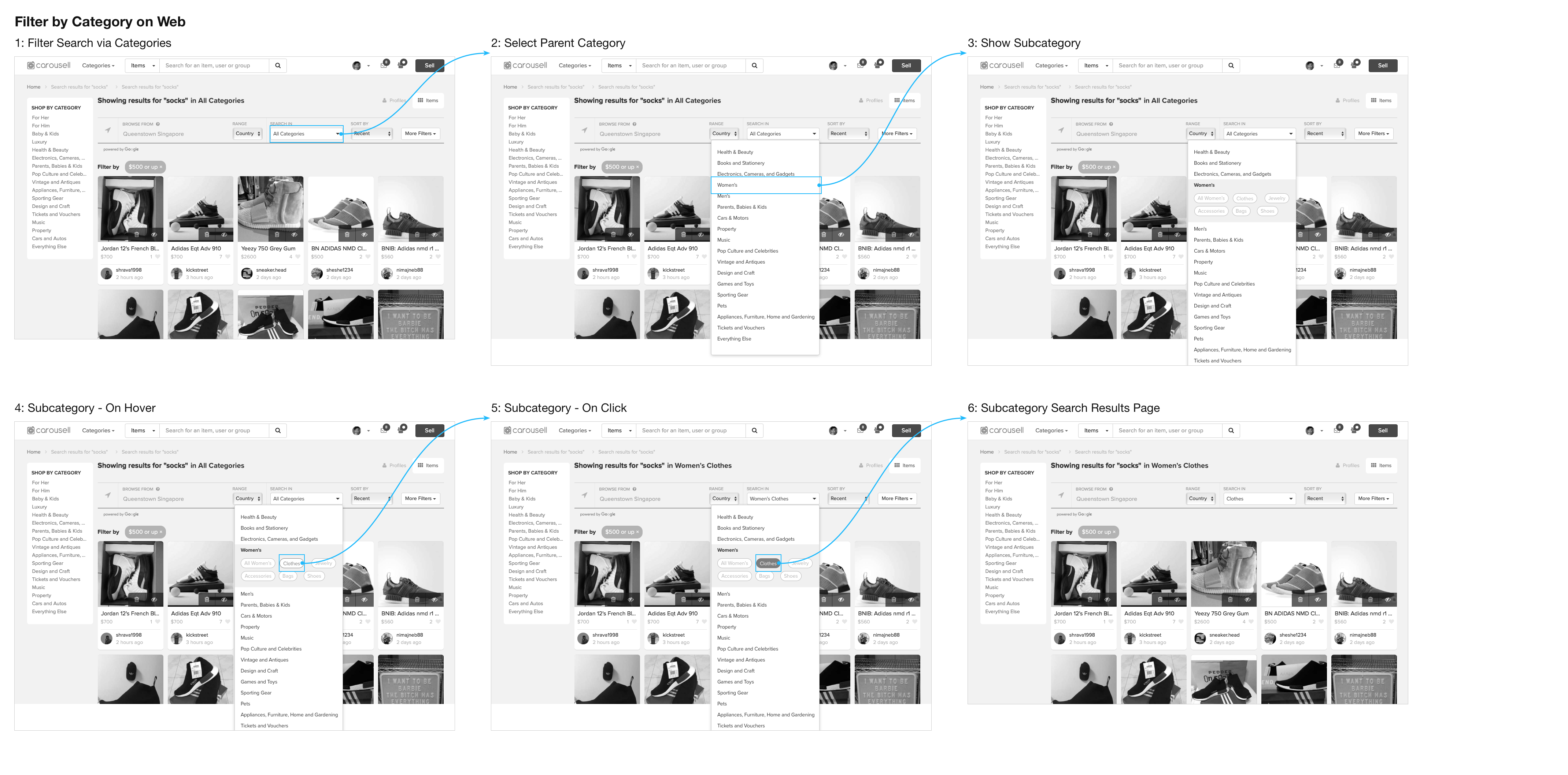 Filter by Category on Web